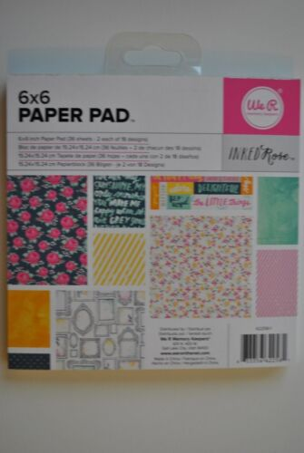 American Crafts We R Memory Keepers Crate Paper Pebbles 6x6 Paper Pad