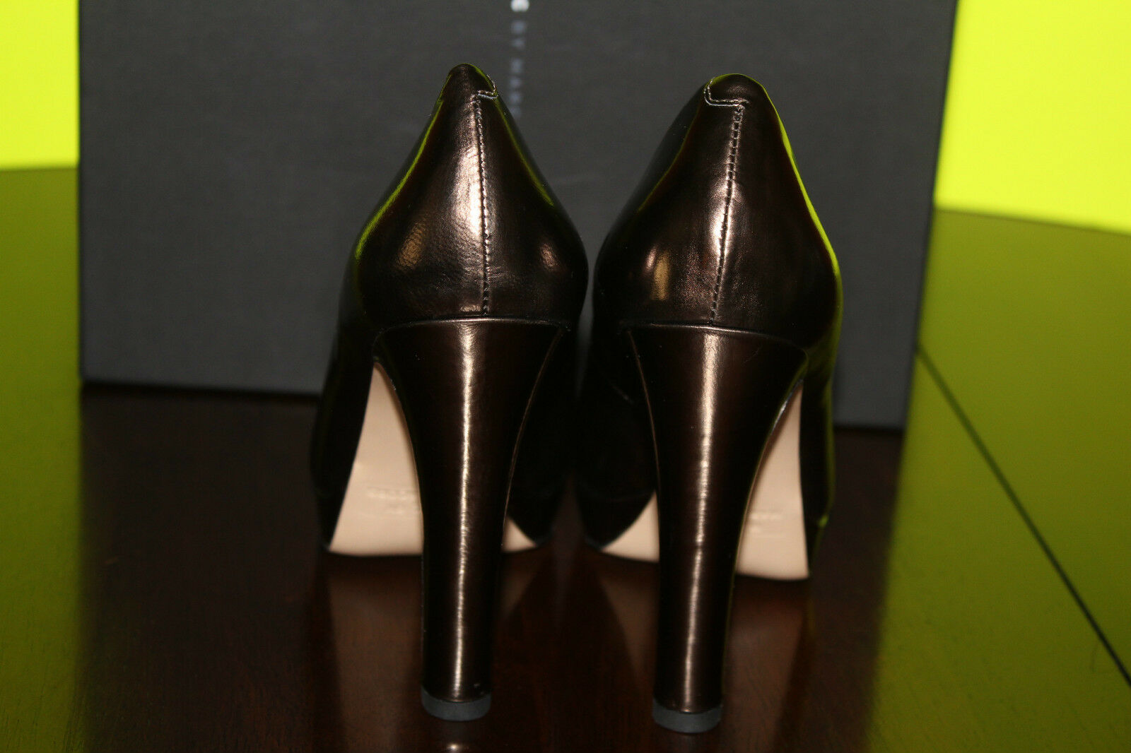 MARC BY MARC JACOBS JACOBS JACOBS 625982 GUNMETAL LEATHER UPPER  7us  295 e45f4b
