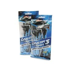 Laser Sport 3 Disposable Razor  (Pack of 5) Buy 1 Get 1 Free