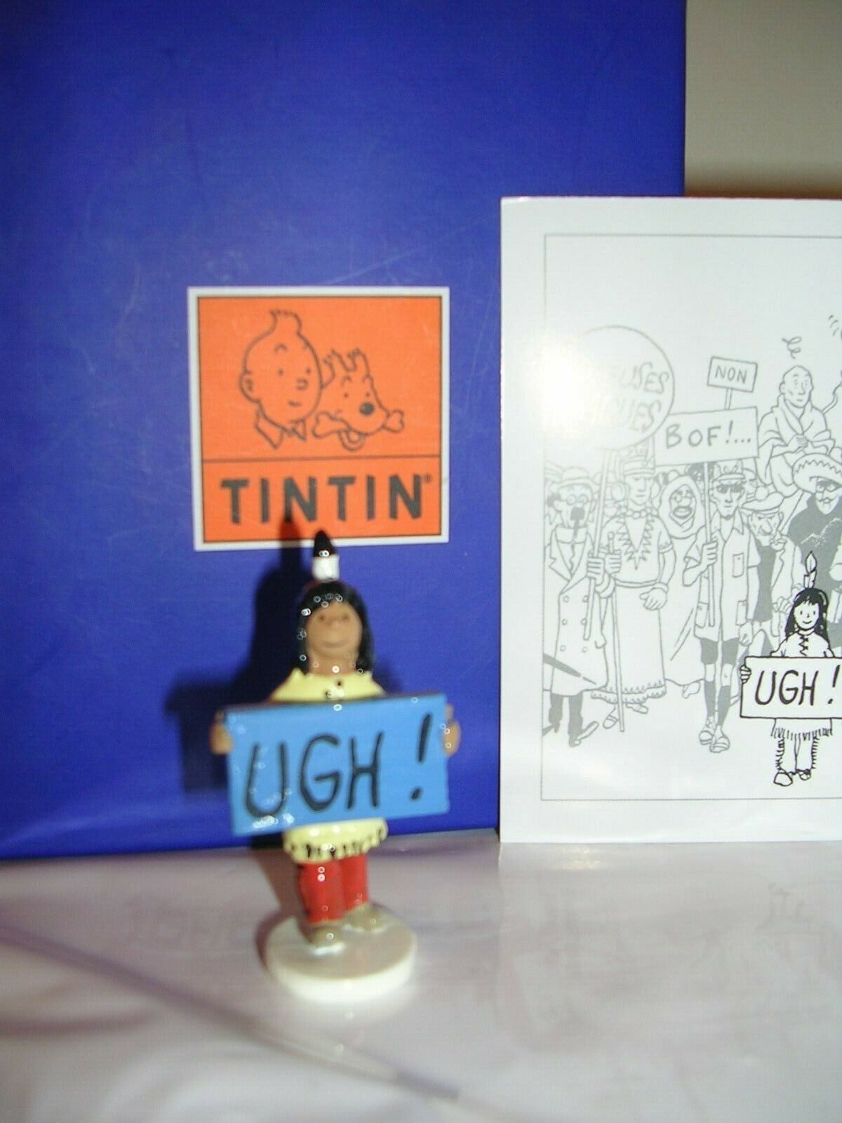 ++TINTIN PIXI MOULINSART CocheTE DE VOEUX++PAPOOSE UGH 46986++ NEUF++