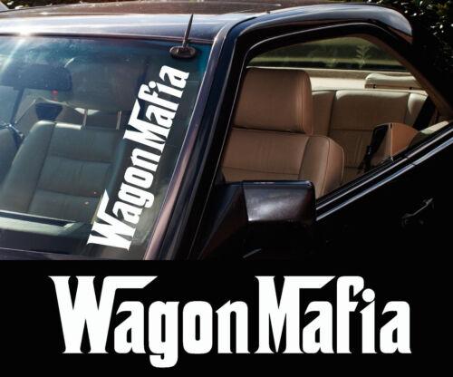 "car Windscreen 500mm stickers 3x /"" WAGON MAFIA /"" station wagon Decals"