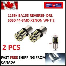 2x White 1156 BA15S P21W LED Car Reverse Signal Lights 5050 44SMD Canbus Lamp