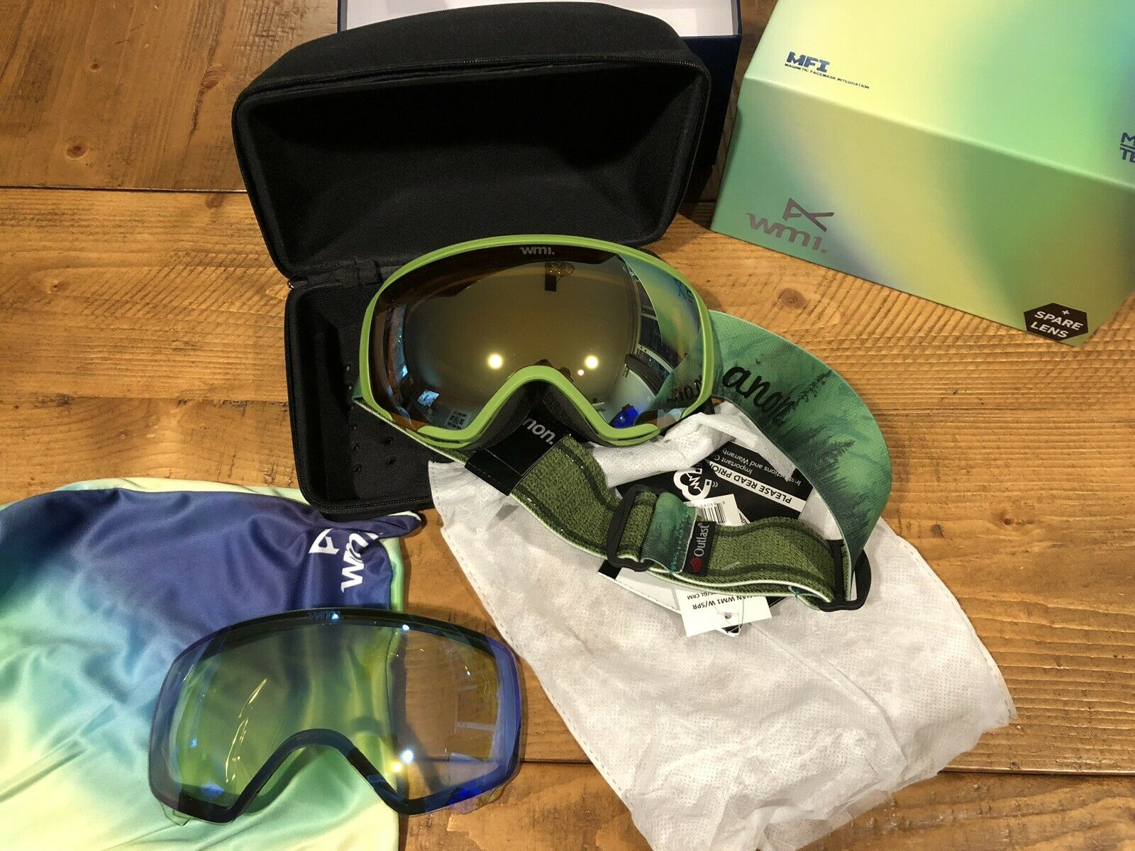 NEW Anon WM1 Burton Snow Goggles  Mother Nature 2x Zeiss Lens Asian  80% off