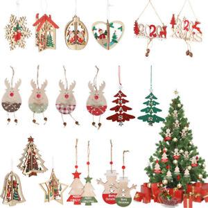 Christmas-Ornaments-Wooden-Star-Elk-Snowflakes-Pendants-For-Xmas-Tree-Home-Decor