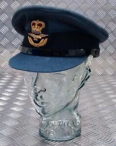 100-Genuine-British-Royal-Air-Force-RAF-Officers-No1-SD-Dress-Hat-All-Sizes