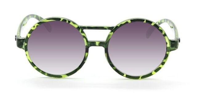 QUAY AUSTRALIA Moda 100% UV Green Plastic Round Black Lens Women Sunglasses
