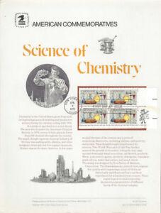 65-13c-Chemistry-1685-USPS-Commemorative-Stamp-Panel-w-FDC-Zip