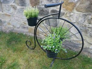 Metal Bicyle Garden Planter Penny Farthing Or Bike Plant Stand With