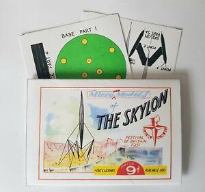 Micromodels-THE-SKYLON-Festival-of-Britain-1951-Micro-New-Models-card-model-kit
