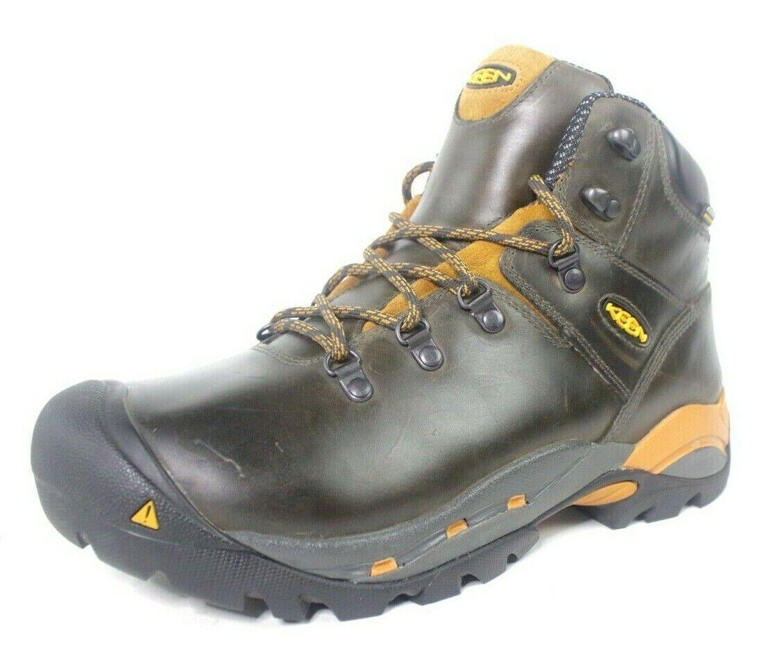 Keen Seco Waterproof utilidad trabajo ASTM F2892-11 puntera cuero botas Sz 11.5 M
