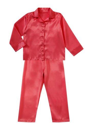 Nine X Boys Girls Kids Satin Long Sleeve Pyjamas pj/'s Age 2-13 Years Nightwear