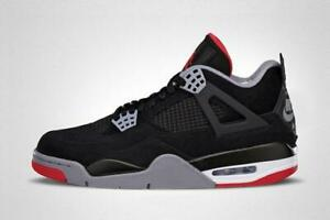 buy online 28fe3 0799a Details about Nike Air Jordan Retro 4 Bred MEN sizes 11 w a receipt Free  Shipping