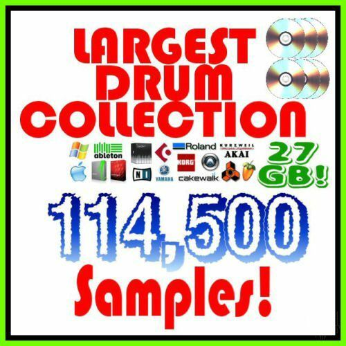 Rap Trap etc Largest Drum Sample Kit 27GB 114,500 Samples Kit for Hip hop EDM