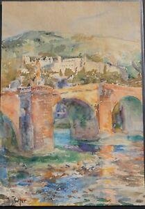 Johannes-Paul-Ufer-Heidelberg-III-Aquarell-um-1920