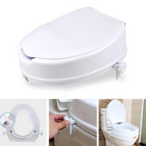 Fantastic Details About Qu Cg Adjustable Detachable Raised Toilet Seat With Lid Elderly Disability Aid Ibusinesslaw Wood Chair Design Ideas Ibusinesslaworg