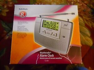 radio shack weather radio alarm clock 12 260 ebay rh ebay com radio shack noaa weather radio manual 12-260 Radio Shack 12 519 Weather Radio