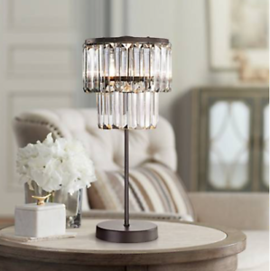 Restoration Hardware Replica Odeon Crystal Glass Fringe Table Lamp