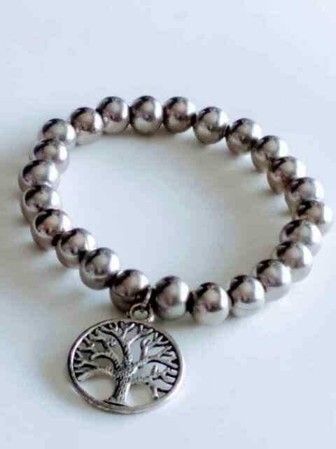 Bracelet Seed Silver With Charm Tree Of Life