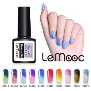 LEMOOC-8ml-Temperature-Farbwechsel-Nagel-Gellack-Thermal-Soak-off-UV-Gel-Polish
