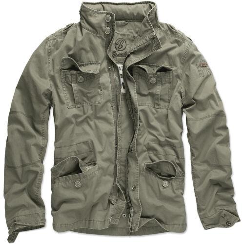 Brandit Britannia Campo Giacca Calda Escursionismo Cappotto Vintage Uomo Cotone
