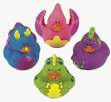 (1) Pk 12 DINOSAUR - RUBBER DUCKS - Dino Party Favors Duckys - Randomly Asst