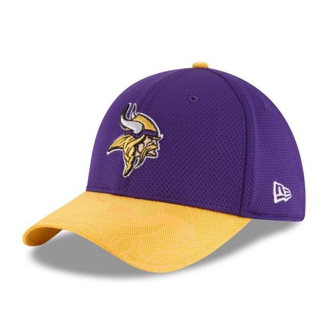 sale retailer 5dbed de164 NEW ERA NFL Minnesota Vikings Purple Sideline Official 39THIRTY Flex Hat sz  M L