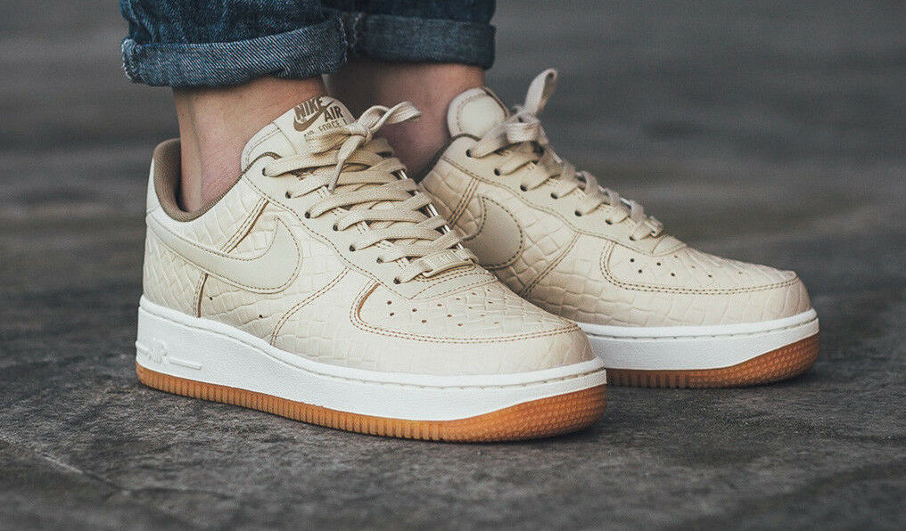 FORCE AIR NIKE damänner 1 40 AF1 OATMEAL 616725112 TRAINERS