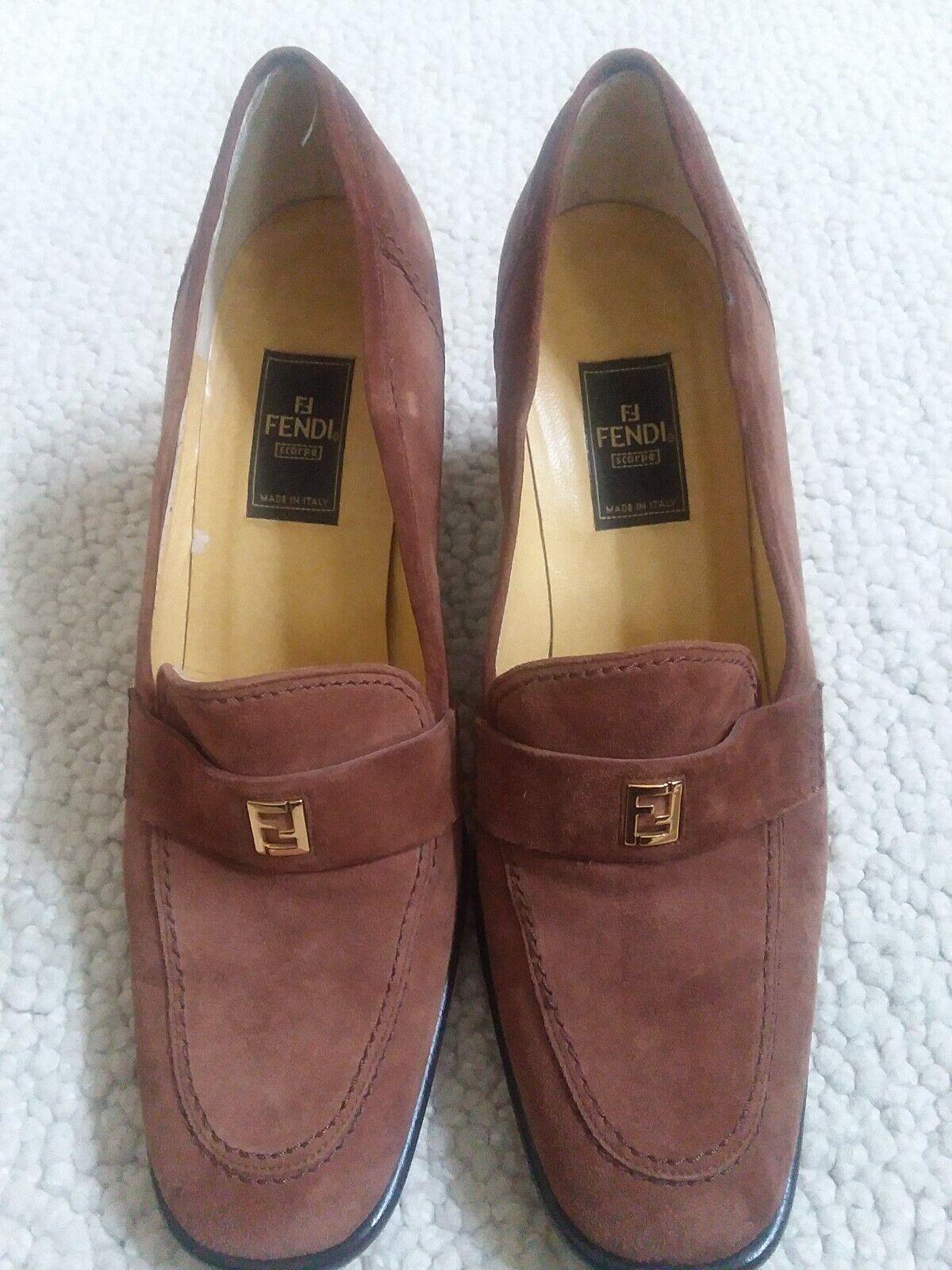 37477d73dd9 FENDI SUEDE LOAFER heels heels heels 9 MED WOMEN 9989d5 - mimhv ...