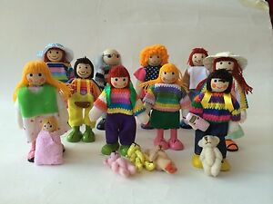 Biegepuppen-Puppen-biege-Puppenhaus-Varianten-Holzspielzeug-Puppenstube-Holz-neu