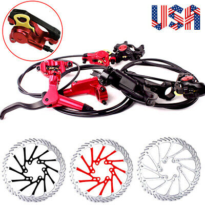 ZOOM MTB Hydraulic Disc Brakes Set With 160//180//203mm Rotor Match PM-Adapter
