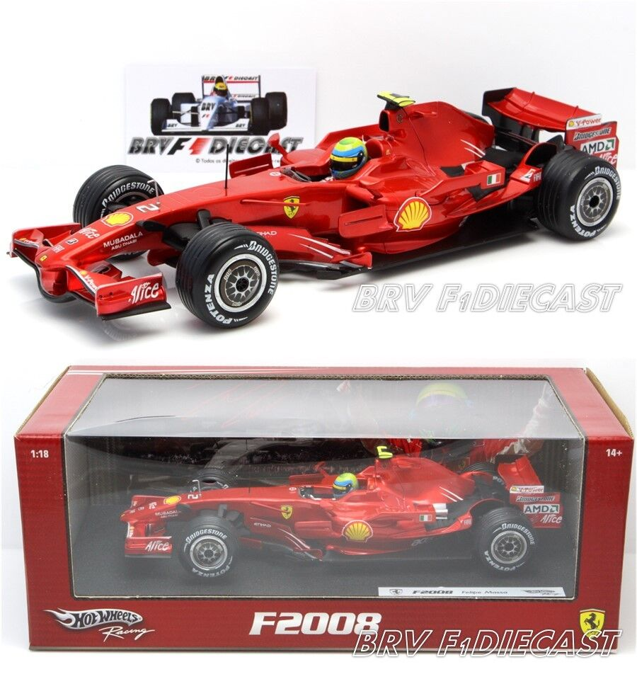 1 18 Hot Wheels Ferrari F2008 V8 Felipe Massa F1 2008 vice champion