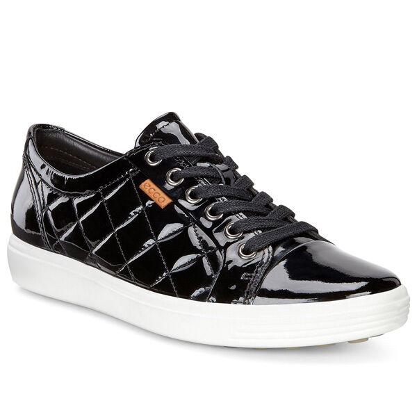 Los zapatos más populares para hombres y mujeres Ecco Soft 7 damas Zapatos señora cuero cortos Black 430083-58636 Women Karma