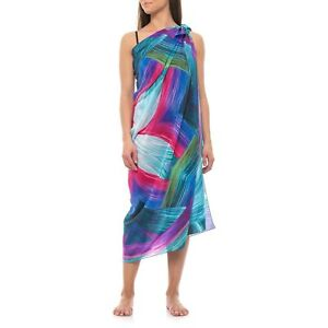 8897256fc3 Image is loading NEW-GOTTEX-Festival-Silk-Pareo-Swim-Cover-up
