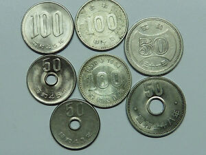 Q665 Japan Lot Aus 7 Münzen Teils Silber Ebay