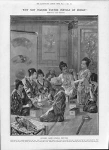 1906-Antique-Print-JAPAN-Ladies-Perfumes-Incense-Parties-Furnace-Sand-211