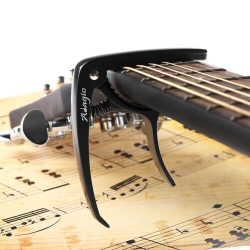banjo BLACK Black ADAGIO CAPO For Acoustic electric and classical guitars
