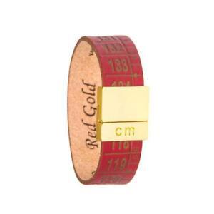 IL-CENTIMETRO-Bracciale-donna-Red-gold-B489S-vera-pelle-made-in-italy-rosso-chic