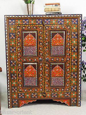 Antik Look Orient Schrank Eckschrank Corner Cabinet Afghan Relief Malerie N13