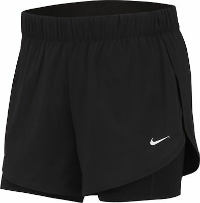 Beliebte Marke Nike Damen Fitnessshort Trainingsshort Nike W Nk Flex 2in1 Short Schwarz