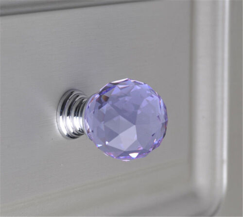 Kristall Möbelknöpfe 30mm Möbelknauf Möbelgriff Schrankgriffe Glas Knopf 10Farbe