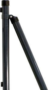 AKTION!! 20x Zaunpfosten 1200 mm ANTHRAZIT 40 mm Zaunpfahl Maschendrahtzaun NEU