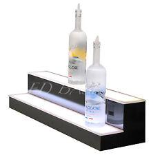 34 Led Bar Shelf Two Step Liquor Bottle Shelves Bottle Display Shelving Rack