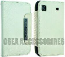 Samsung Galaxy I9000 S1 Estuche De Cuero Cartera Bolsa cubierta voltear atrás calcetín Gel Duro