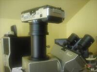 Samsung Nx Camera Adapter + Olympus Microscope Trinocular Tube 4 U-cmad3 Bx51 Mx