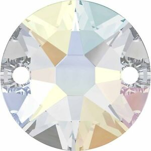 SWAROVSKI CRYSTAL SEW-ON XIRIUS ROUND FLAT BACK STONES *8-12mm *3288 ALL COLOURS