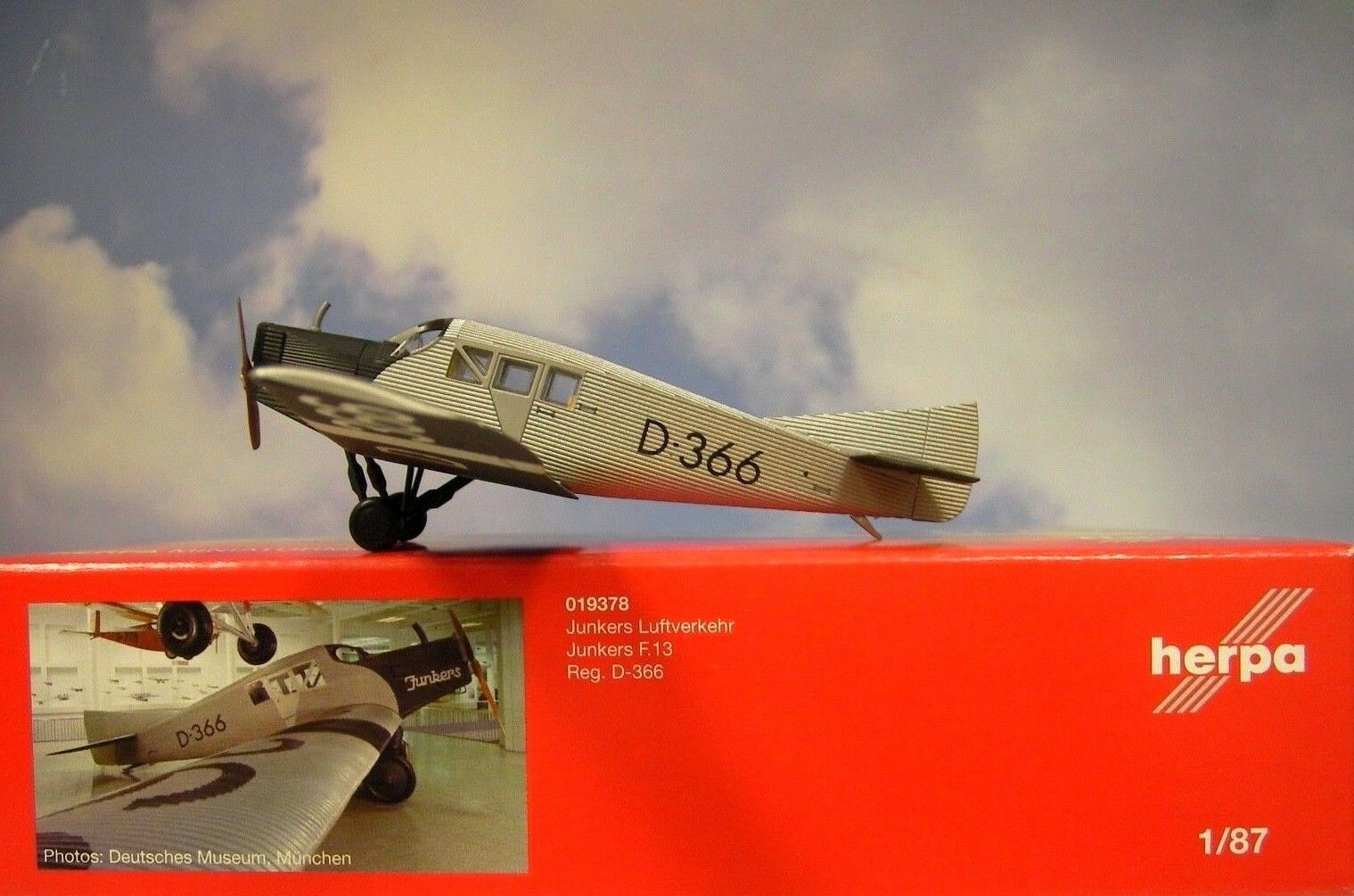 Herpa ali nach junkers (f).13 junkers luftverkehr d-366 019378