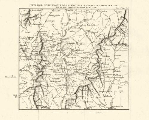 Wurzburg Regensburg Nurnberg Bayreuth 1818 map BAVARIA Napoleonic battles