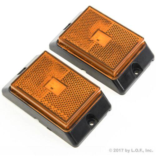 "2 Amber 4/"" Side Marker Lights LED Truck Trailer Clearance Super Bright Indicator"