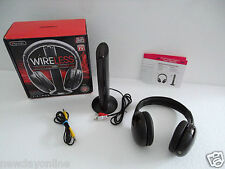 Sentry Wireless Headphone w/Transmitter Built-in FM Radio 30m Range 3.5mm HW701