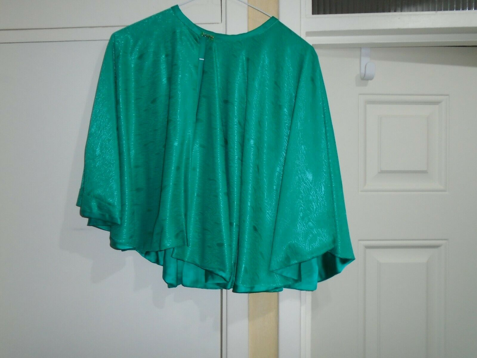 Victorian CAPE ladies green pattern short any size